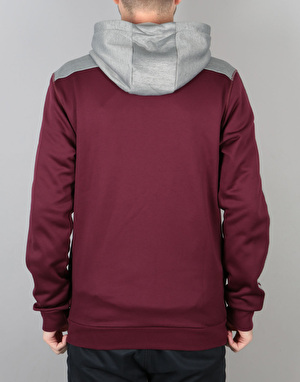 Adidas Heavy Zip Hoodie - Core Heather/Maroon