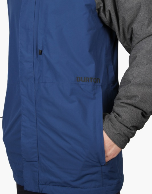 Burton Hilltop 2016 Snowboard Jacket - Boro Ripstop/Heather Grey Block