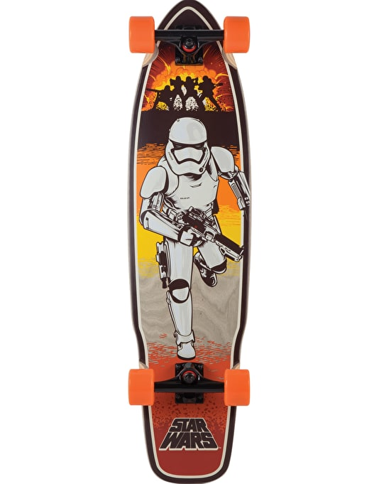 "Santa Cruz x Star Wars Episode VII Stormtrooper Longboard - 36"" x 9"""