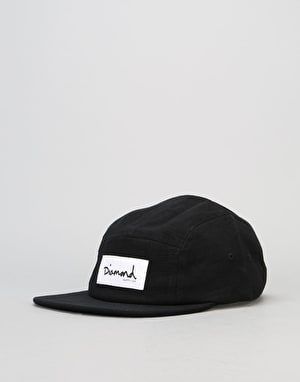 Diamond Supply Co. Heavy Slub 5 Panel Cap - Black