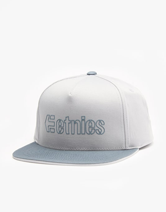 Etnies Corporate 5 Snapback Cap - Light Grey/Dark Grey