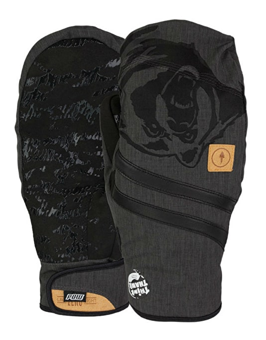 Pow Zero 2016 Snowboard Mitts - Bearclaw Think Thank