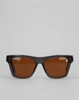 Stüssy Norton Sunglasses - Dark Grey/Brown