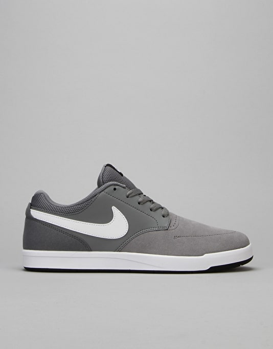 Nike SB Fokus Skate Shoes - Cool Grey/White-Black