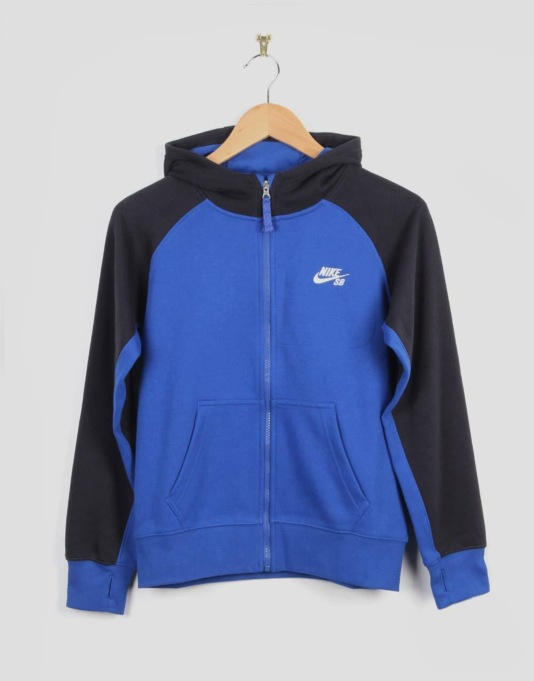Nike SB Everett Boys Zip Hood - Game Royal