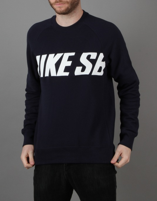cd8864af25fc Nike SB Everett Motion Fleece Crew - Obsidian Blue