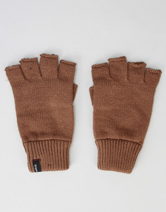 Brixton Cutter Fingerless Gloves - Brown