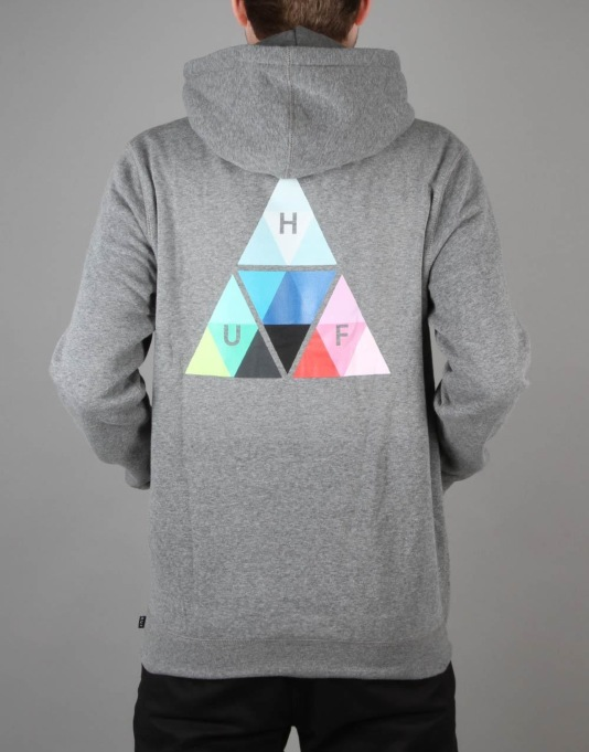 HUF Triangle Prism Pullover Hoodie - Grey Heather
