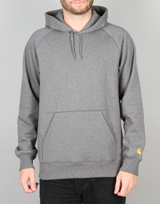 Carhartt Chase Hooded Sweatshirt - Dark Grey/Heather/Gold