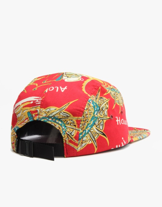 HUF Souvenir Volley 5 Panel Cap - Red