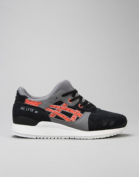 Asics Gel-Lyte III Shoes - Black/Chilli