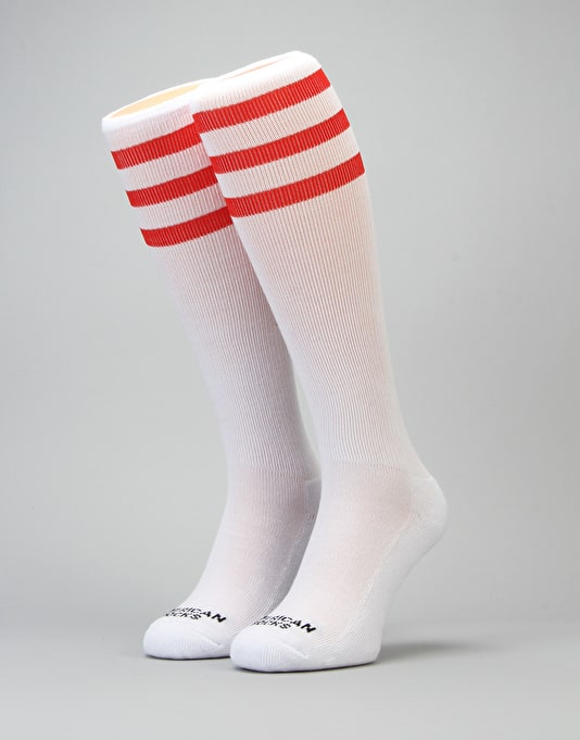 American Socks Orange County Knee High Socks - White/Orange