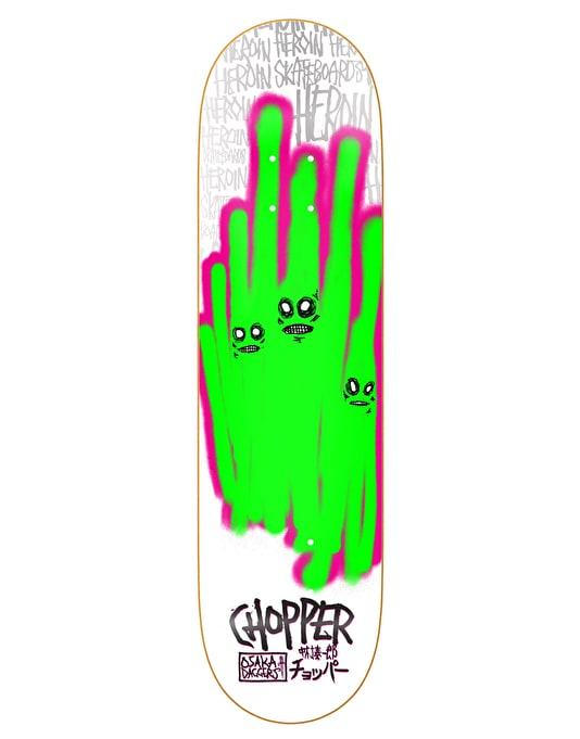 Heroin Chopper Ghosts Pro Deck - 8""