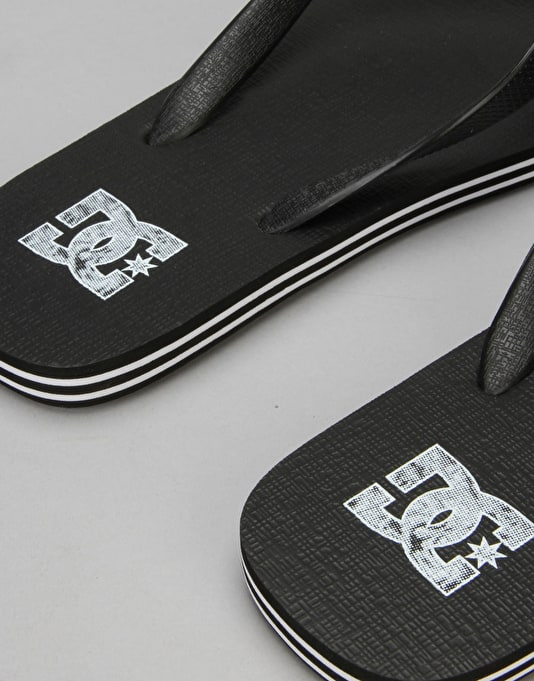 DC Spray Flip Flops - Black/Grey/White