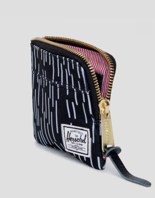 Herschel Supply Co. Johnny Wallet - Black/White Rain Camo