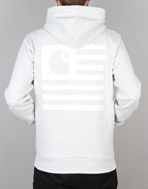 Carhartt State Flag Hooded Sweatshirt - Ash Heather/White