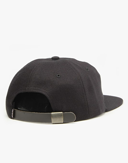 HUF Formless Classic H 6 Panel Cap - Black/Black
