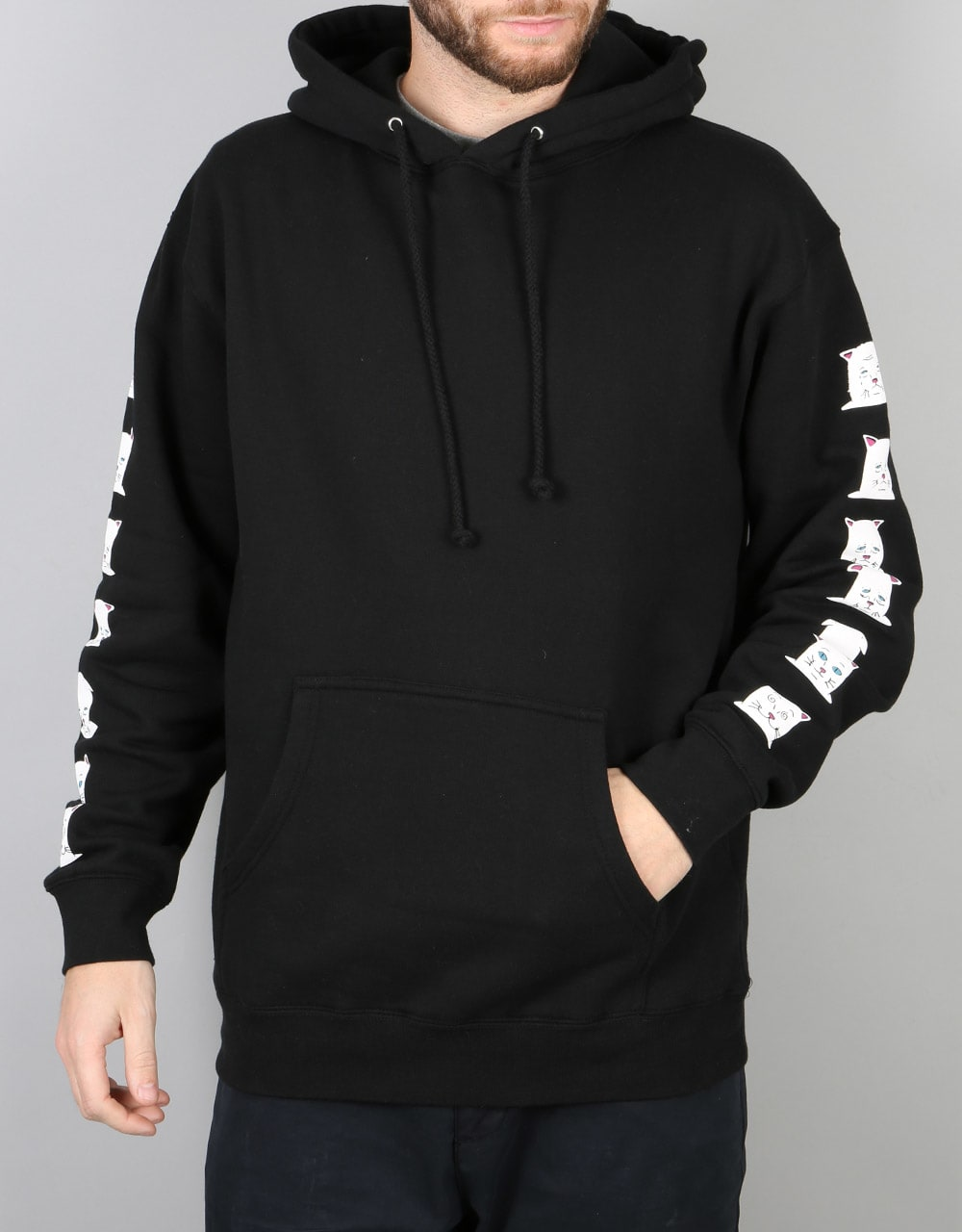 RIPNDIP Caturdays Pullover Hoodie - Black | Skate Pullover Hoodies | Mens Hoodies | Clothing ...
