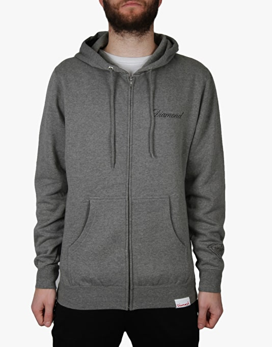 Diamond Supply Co. Caddy Zip Hoodie - Heather