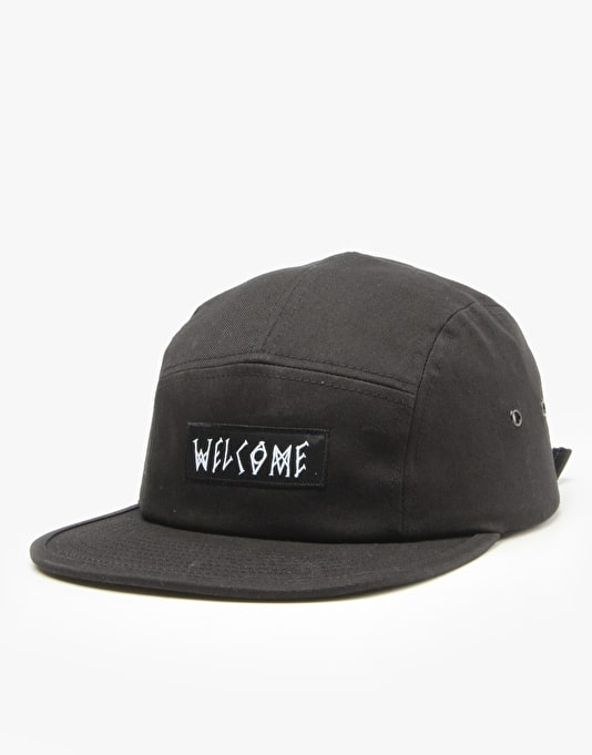 Welcome Scrawl Camp Cap - Black  b18b3dd35d2