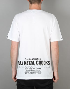 Crooks & Castles Full Metal Crooks T-Shirt - White