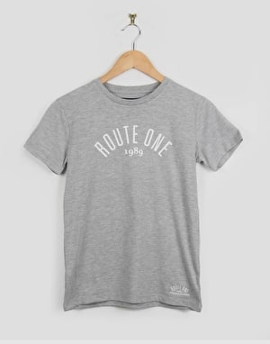 Route One Boys Logo T-Shirt - Grey