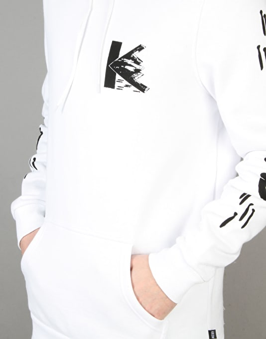 Kr3w x Fergus Purcell Bomber Pullover Hoodie - White
