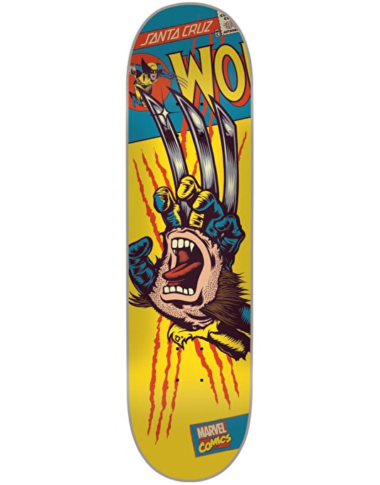 Santa Cruz x Marvel Comics Wolverine Hand Team Deck - 8.25""