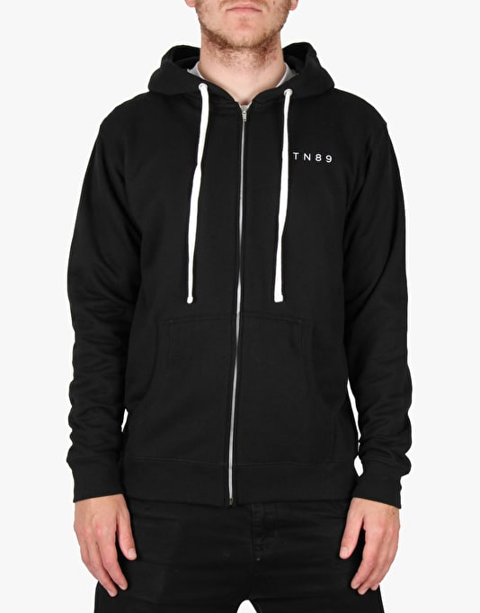 Route One Stamp Zip Hoodie - Black