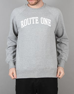 Route One College Logo Sweatshirt - Grey