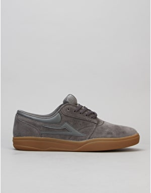 Lakai Griffin XLK Skate Shoes - Grey/Gum Suede