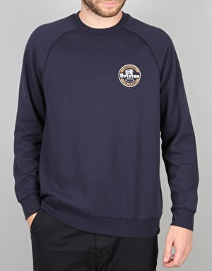 Brixton Soto Crew Fleece - Washed Navy