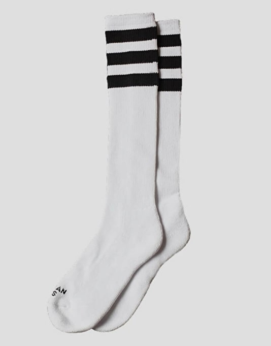 American Socks Old School Knee High Socks - White/Black