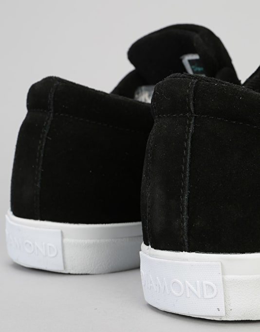 Diamond Supply Co. Torey Skate Shoes - Black Suede