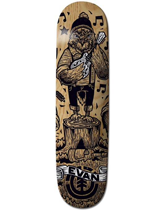 Element x J-Fellows Evan Animal Band Featherlight Pro Deck - 8.25""