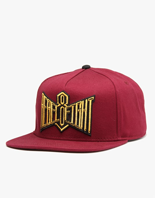 Rebel8 Double Edge Snapback Cap - Maroon Duck Canvas