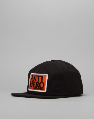 Anti Hero Reverse Patch Snapback Cap - Black