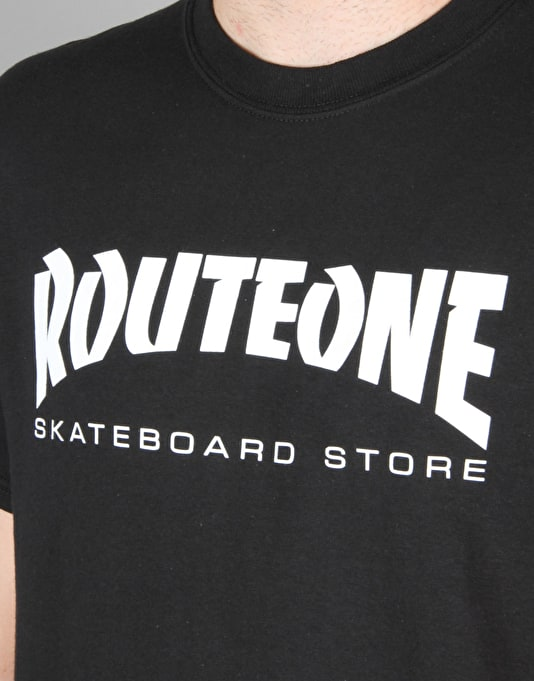 Route One Skate Store T-Shirt - Black