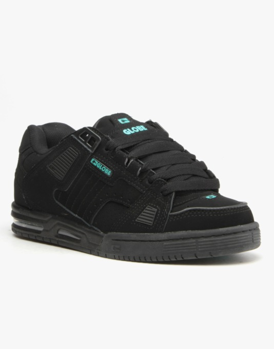 Globe Sabre Skate Shoes - Black/Aqua