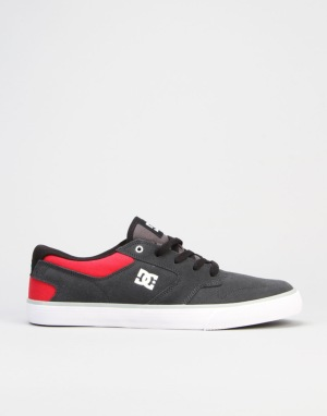 DC Argosy Vulc Skate Shoes - Grey/Red