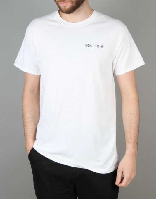 Route One Archibald and Albert T-Shirt - White