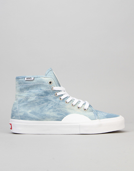 Vans AV Classic High Skate Shoes - Denim/White