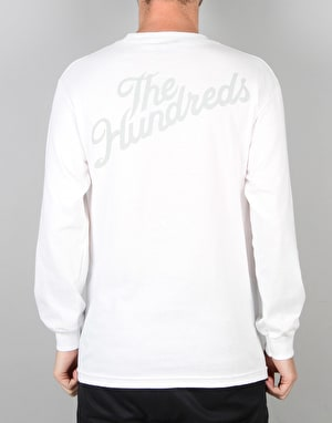 The Hundreds Slant Crest L/S T-Shirt - White