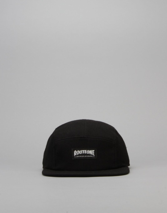 Route One Skate Store 5-Panel Cap - Black