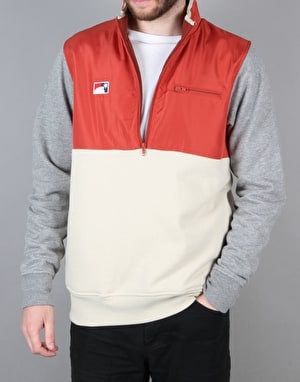 The Hundreds Venture Half Zip Jacket - Maroon