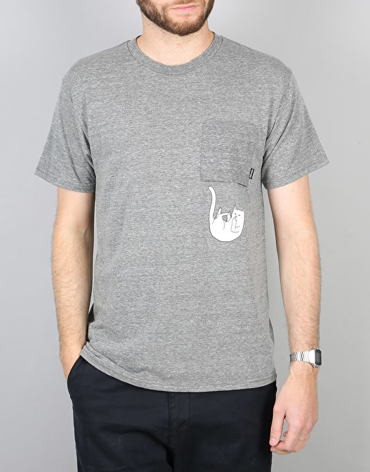 RIPNDIP Falling for Nermal Pocket T-Shirt - Athletic Grey