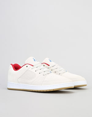 éS Accel Slim Skate Shoe - White/Red