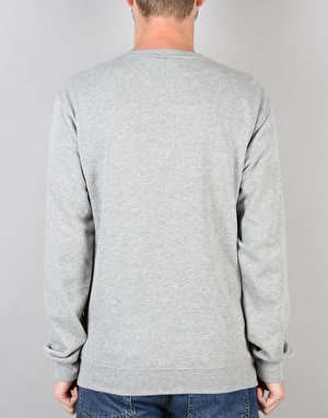 Welcome Latin Lightweight Crew Fleece - Heather Grey