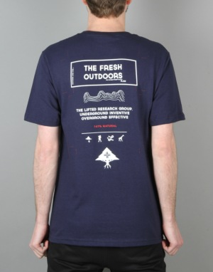 LRG RC Fresh Outdoors T-Shirt - Navy