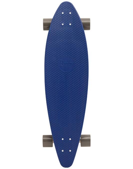"Penny Pin Tail Longboard - 36"" x 9.5"" - Royal Blue"